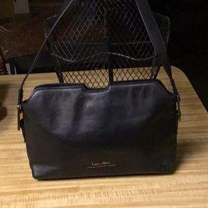 Ludin Hicks Black Leather Shoulder Bag